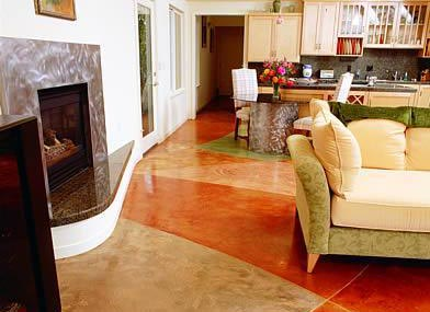 color stained concrete
